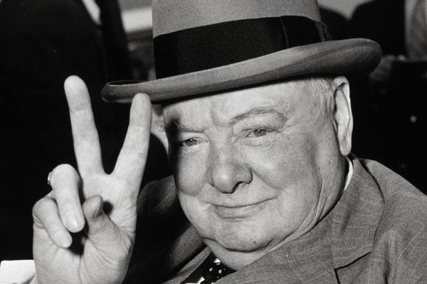 Churchill V victory