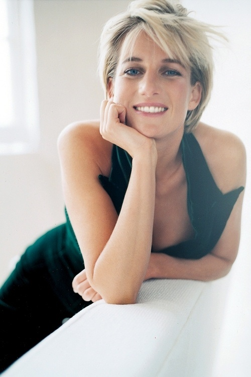 Depression Princess Diana coy smiling